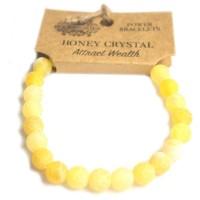 Bracelet de puissance en crystal de miel