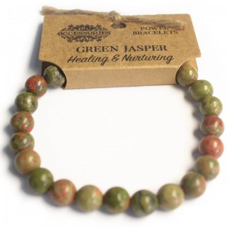 Bracelet de puissance en jaspe vert