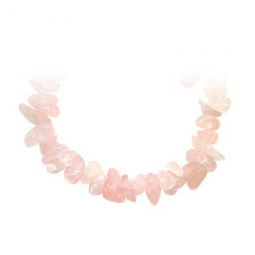 Collier baroque Quartz rose