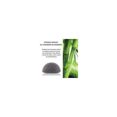 Eponge KONJAC Charbon de bambou