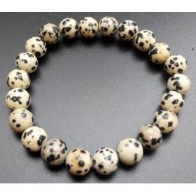 bracelet pierre naturelle en jaspe dalmatien 8mm