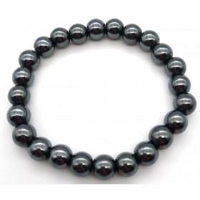 bracelet pierre naturelle Hématite 8mm