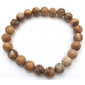 bracelet pierre naturelle Jaspe paysage 8mm