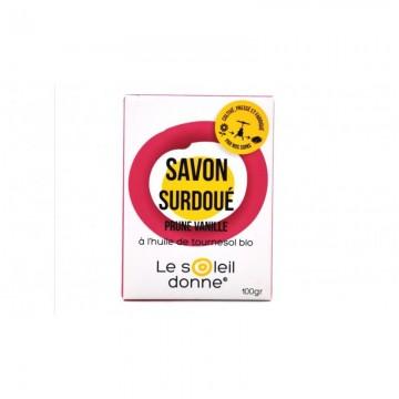 Le savon surdoué prune vanille le soleil donne 100g ( livraison offerte)