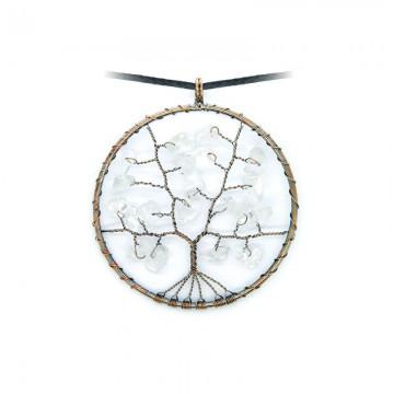 Arbre de vie en cristal de roche ( livraison offerte)